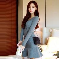 2014 New Arrival Women Winter Dress Sexy Fashion Dress Knitting long sleeve ladies dress,SB189