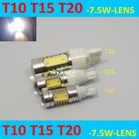 2 X led t15 7.5W W16W auto LED high power T15 Back Up Rear Reverse White LED Car Lamp Light auto backup lamp car tail light