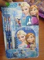 Frozen Stationery Set Frozen notebook + pencil + eraser + sharpener Student stationery Frozen Sets