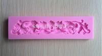Beautiful Gum paste lace border fondant cake molds soap chocolate mould for the kitchen baking  C324