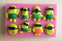Despicable Me Minions fondant cake molds soap chocolate mould for the kitchen baking C333