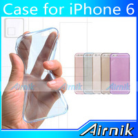 Transparent Skin Clear TPU Back Cover Case for iPhone 6