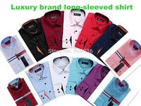 Fashion Mens Business Brand Dress Shirt Plaid Long Sleeve Casual Slim Fit Shirt Striped Dudalina Social Camisa Cotton Male Shirt