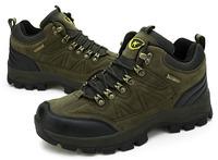 Wholesale Autumn Casual Outdoor Hiking Shoes Men Waterproof Genuine Leather Men climbing Shoes High-Top Sport Trekking Shoes men