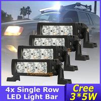 New 4pcs/Lot Cree led light bar 3x5w Truck DC 9~32V 4x4 LED work light spot/ Flood beam 15W 1500LM off-road car free shipping