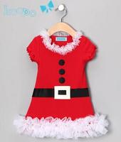 New arrive children's clothing girl's dress Christmas dress short sleeves children dress