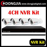 DA-KIT201S Economical 4CH 1080P NVR 4CH Waterproof small bullet onvif P2P 720P IP Camera NVR KIT
