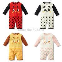 2014 new cartoon animal Baby Rompers Underwear pajamas boys girls long sleeve infants One-piece Romper baby jumpsuit