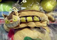 With Zipper 16cm FREE SHIPPING Novelty Item Kawaii Cute Plush My Neighbor Totoro  Pencil Case Cat Pen Bag For Girl Children Gift