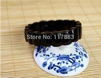 Wholesale crystal black tourmaline hand row apotropaic Men fashion jewelry