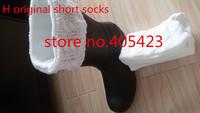 free shipping wholesale 1pair/lot short style women men H logo rain boots wool knit cable cuff fleece material Warm socks
