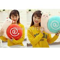 2pcs 40cm FREE SHIPPING Novelty Kawaii Cute Stuffed Animal Plush Snail Toy Soft Wedding Doll For Couple Souvenir Decoration Gift