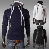 New 2014 Fashion Winter Men Hoodies Sweatshirts Brand Slim Brushed Man Sweater Hooded Sport Tracksuit Sportswear 3 Colors M-XXL