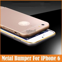 "New 0.5mm Ultra Thin Arc Metal Aluminum Frame With Hard Cover 4.7"" Bumper For Apple iPhone 6 Case Phone Cases Capa Accessories"