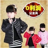 Children's winter down jackets coats Girls short down jacket down jacket coat brand winter Princess wind warm jackets & Coats