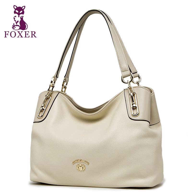 FOXER designer handbags high quality women shoulder bags new 2015 fashion tote women leather handbag ladies wristlets brand bag(China (Mainland))