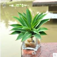 Mini centuryplant artificial plants silk flower PU flower home decoration green trees MA1587
