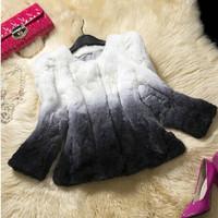 2014 winter Woman fashion clothes new rabbit hair  fur overcoat