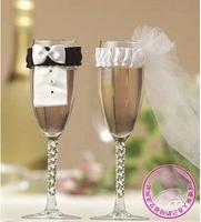 GW001 Bride& Groom Costume Decoration for Wine Glass Wedlock Turesday Mug Decoration bottle set Wedding Party Supplies