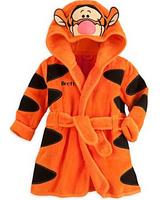 Retail 1set 2014 new baby girls/boys cartoon Pajamas cartoon tiger romper Bathrobes Robe kids soft Bath robes