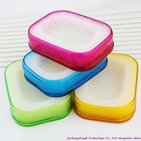Free shipping!  high-quality multi-functional candy colored sponges soapbox aerobic respiration soap box color random