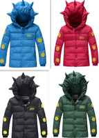 new winter 2014 children down jacket boy short cartoon character cotton-padded jacket with thick coat  free shipping
