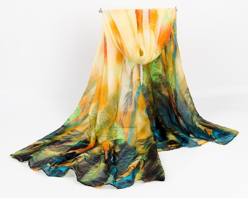 New designs 2014 fashion elegant women voile cotton scarf gorgeous feather print plus large size Autumn and Winter shawl stoles(China (Mainland))