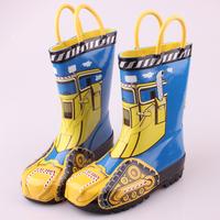 Tank Rain Boots Children Rubber Boots Waterproof Cartoon Boys Rainshoes Autumn Winter Boys Shoes Top Quality