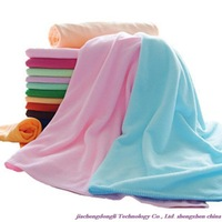 Free shipping! Wholesale high quality Extra large 70 * 140cm super absorbent microfiber bath towel soft towel