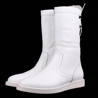 2014 Hot Sale Winter Genuine Rubber Zip New Men Fashion Show Boots High Cowboy Boots, Round Soft Large Size Shoes