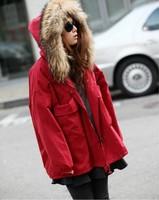 Women's Thicken Large Faux Fur Collar Down Cotton Coat,Winter Snow Warm Cotton Coat Outwear For Women,2 Colors,Size S-L,J8004