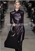 2014 Autumn Winter hot sell brand wo men fashion genuine leather jacket coat ,women sheepskin leather motorcycle jacket coat