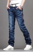 men's long pants fashion jeans pants Europe straight leg