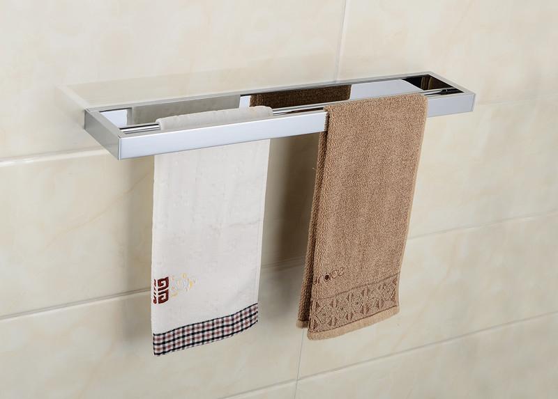 Solid Brass Towel Rack Bathroom Double Towel Bar Bath Hardware Towel Holder(China (Mainland))