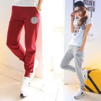 New 2014 Pants Women Print 100% Cotton Women's Cotton Sports Pants Casual Loose Thin Trousers Ankle Length Pencil Pants #ZFC99