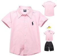 3-8 Year school Boy wear top blouse cotton clothing collar lapel costume coat toddler shirt petticoat patchwork