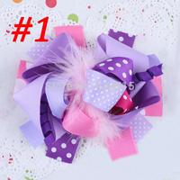 Handmade girl flower hairgrip for boutique