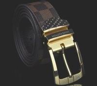 New Arrive Fashion Men Strap Real Leather Genuine Leather Belt  Man Strap Waist Luxury Belts Alloy Pin Buckle L08