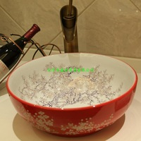 Jingdezhen Mediterranean style of the basin that wash a face basin subsidence basin, deliberately on the stage