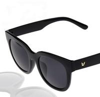 Fashion Gafas Big Round frame 2015 summer Cat eye High Quality white coffee&black women men sunglasses Vintage glasses 773