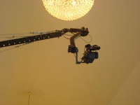 960cm jimmy jib crane with motorized pan tilt head for 10 kg bearing without hard cases