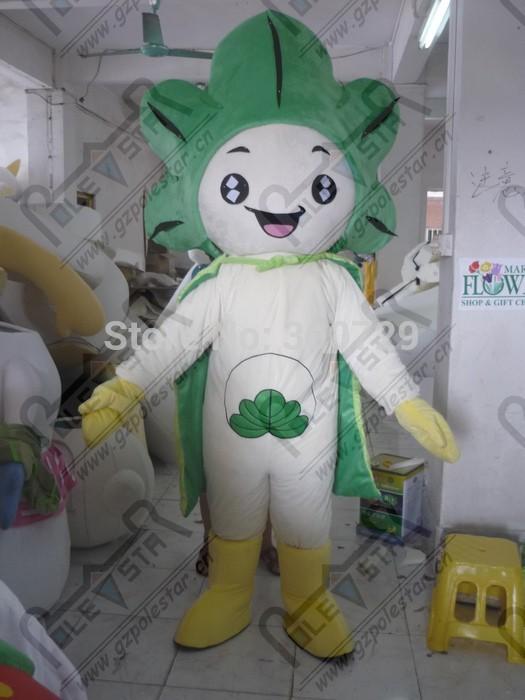 green pant mascot costumes leaf costumes(China (Mainland))