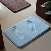 Slow rebound memory foam mats waste-absorbing slip-resistant bath mat coral fleece mat doormat carpet ZFC115