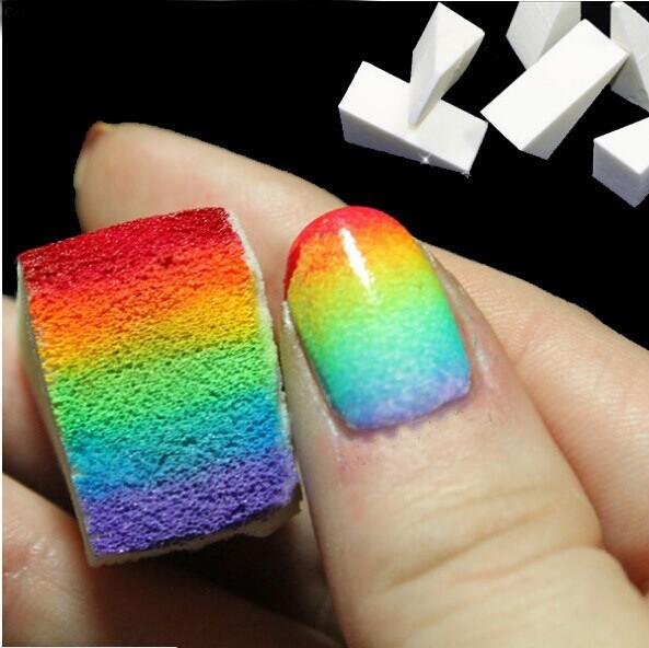Nail Art Equipment Simple 8Pcs DIY Change color Sponge Creative Nail Tools Free shipping wholesale(China (Mainland))