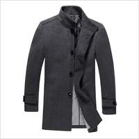 High qulity! 2014 New Men's Wool Coat Casual Jacket for men Winter Men Overcoat Men's solid outerwear coat free shipping VD3K024