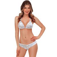 Free Shipping Bra & Bikini sets Sexy White Lace Triangle Bikini Lingerie LC4239 Bra & Bikini sets underwear thong and bra
