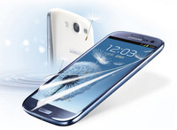 Clear Screen Protectors For Samsung I9300 mobile phone Galaxy S3 Screen Protective Film sticker HD Grind arenaceous Diamond film