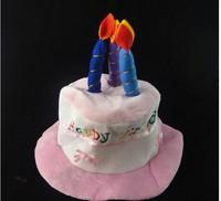 Free shipping  Children's birthday hat birthday cake hat