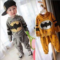 children outerwear sport set baby tshirt Hoodies+pants boys tracksuits Batman spring autumn clothes set free shipping