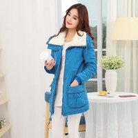 Women's Thicken Large Faux Fur Collar Down Cotton Coat,Winter Snow Warm Cotton Coat Outwear For Women,6 Colors,Size S-XXL,J8008